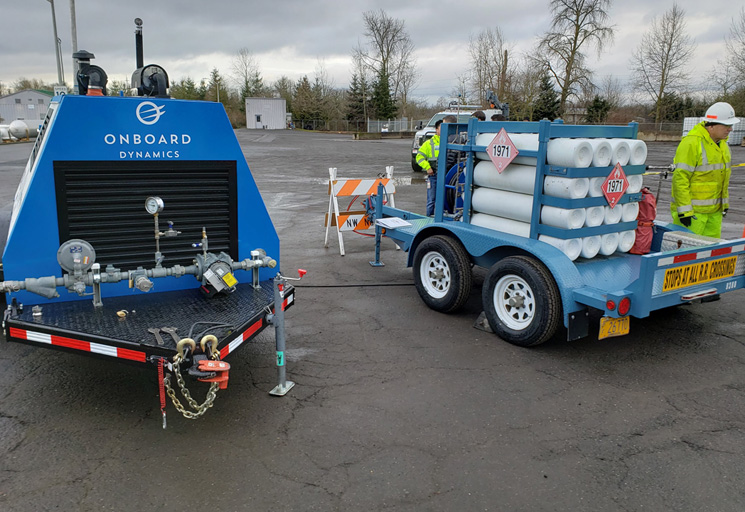 The GoFlo compresses natural gas