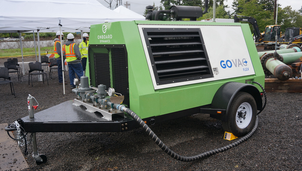 The GoVAC being tested at NW Natural Gas in Sherwood, OR